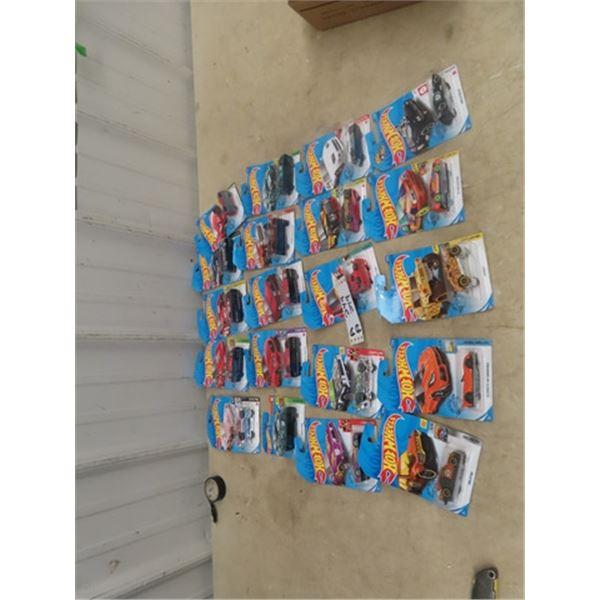 Approx 20 Hotwheels Cars in Pkgs