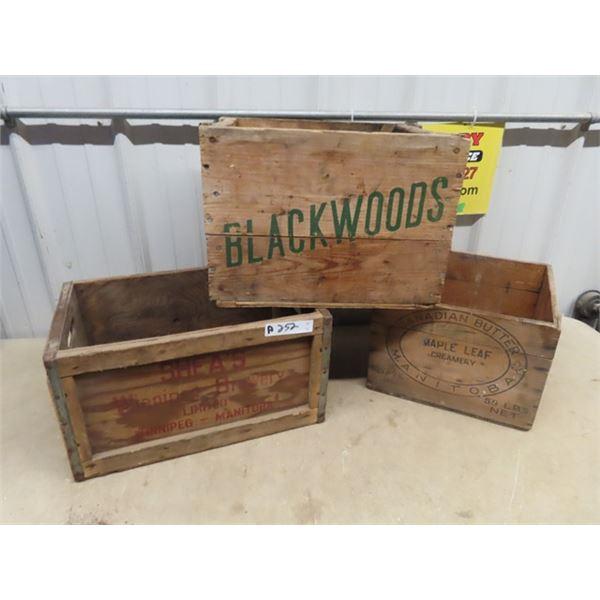 3 Crates 1) Shae's 1) Blackwoods 1) Cdn Butter