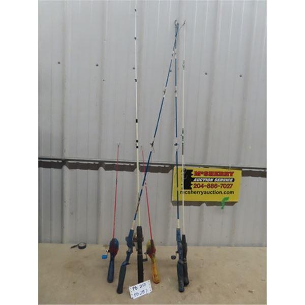 6 Fishing Rods & 4 Reels