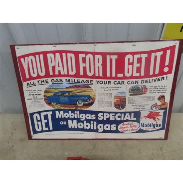 Framed Mobile Gas Adv, Metal Toy, Nylin Fire Wagon Trailer, Wyondotte Scraper Trailer