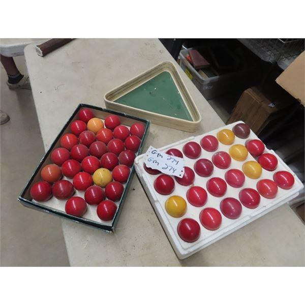 2 Sets of Snooker Balls