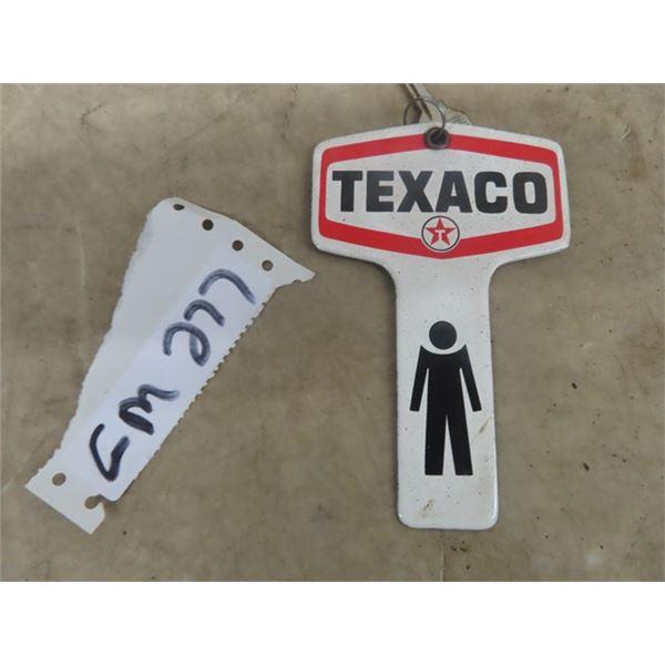 "Porc Texaco Service Station Key Chain 3.5"" x 6"""