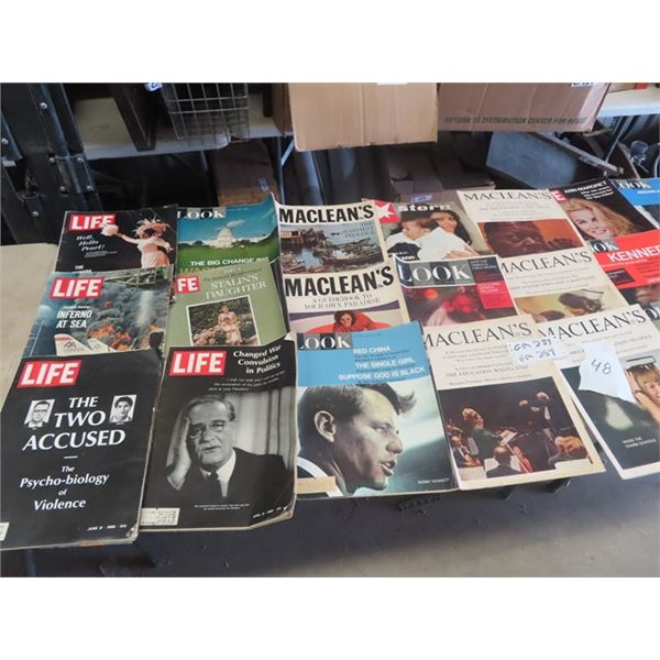 Approx 48 - 1960's Magazines - Life 1950's Star Weekly, Country Guide Plus