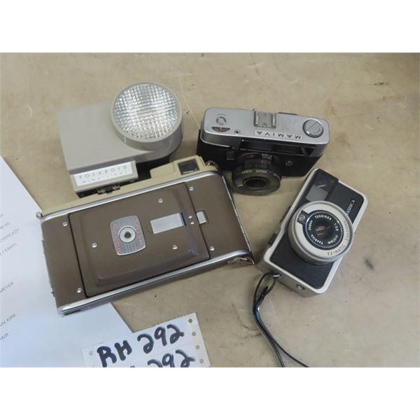 3 Cameras Yasic EZ Matic 120 Focus , Mamiya Mdl 135 mm, Polaroid  Land Cameral Mdl 80 A - See Last P