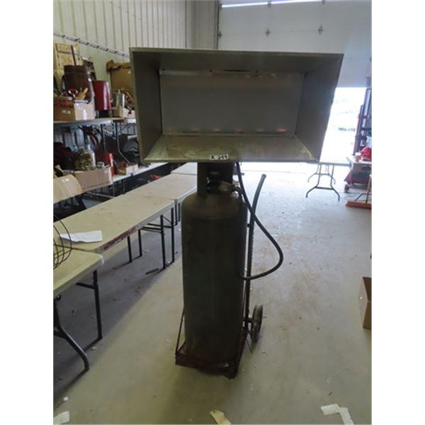 Propane Heater Space Ray w Bottle & Cart