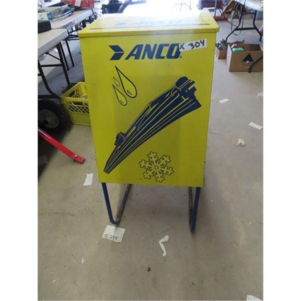 "Metal ANCO Service Stn Wiper Display Cabinet 36""H 19"" W 16"" D"