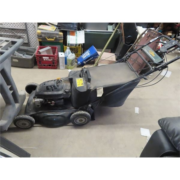 Yard Works Gas Lawm Mower w Elec Start & Bagger Estate Item- Needs Tune Up As It has been Sitting