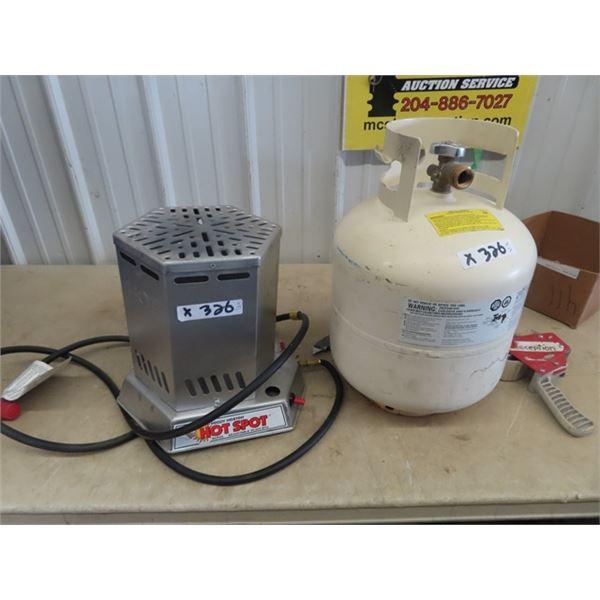 Hot Spot 25000 BTU Heater, & Propane Tank