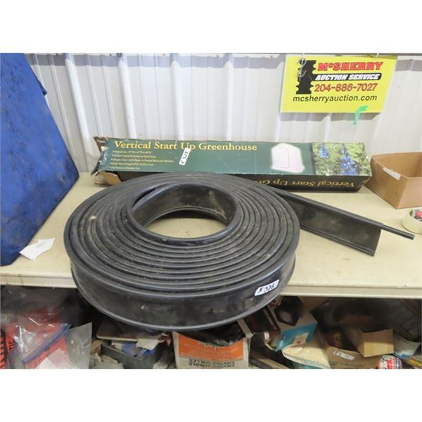 """Vertical Start Up Greenhouse 72""""W 47""""D & 86""""H in Box & Edging"""