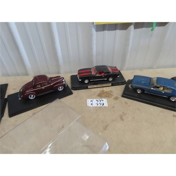 3 Toy Die Cast Cars - Ford Coupe, 07 Camero Z28, & GTO Judge