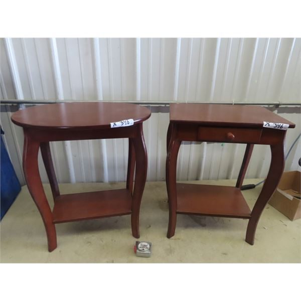 """2 Stands , 1 Has a Drawer 24"""" x 18"""" x 13"""" & 24"""" x 21"""" x 16"""""""