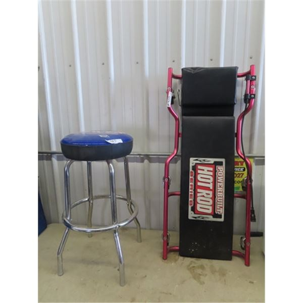Spicer Adv on Parts Counter Stool & Creeper w Hot Rod