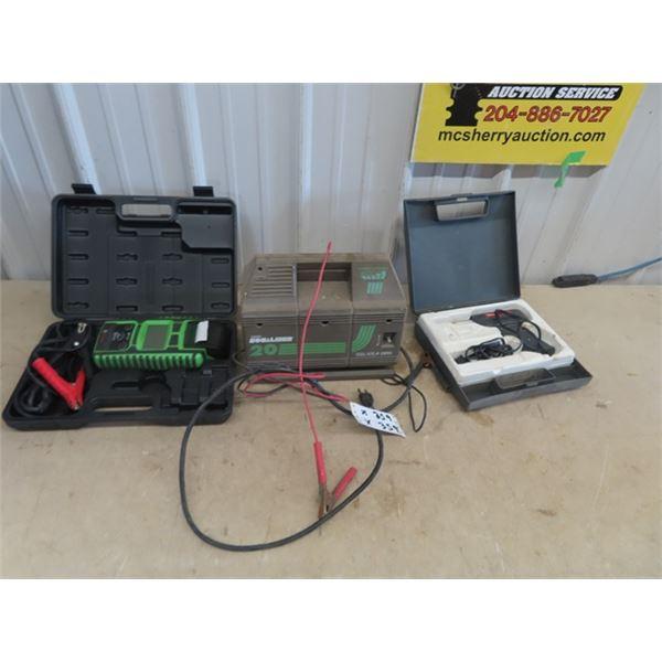 Battery Load Tester, Battery Charger, & Sodering Gun
