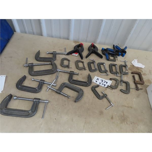 Approx 22 C Clamps & Squeeze Clamps