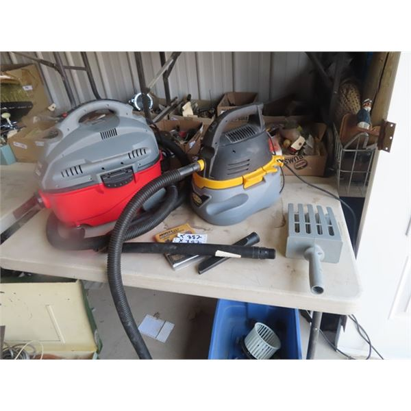 2 Shop Vacs - 1) Craftsman 4 Gal 5 HP & 1) Stinger