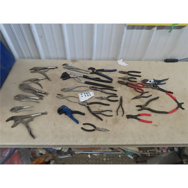 Approx 25 Plus Vice Grips, Pliers, Cutters
