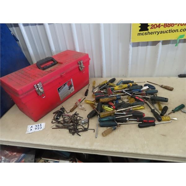 Tool Box , 80 Plus Screw Drivers, & Allan Wrenches