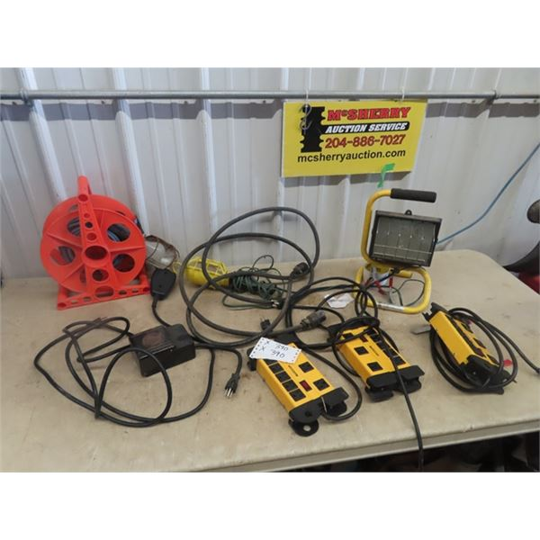 Power Bars, Ext Cords, Trouble Light, Timers, Halogen Light