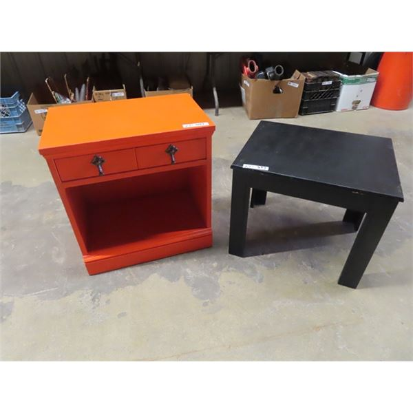 """End Table/Nite Table 24"""" x 22"""" x 14"""" & Stand 19"""" x 22"""" x 14"""""""