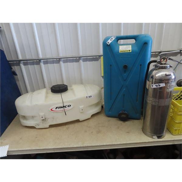 Poly Sprayer Tank, Grey Water RV Tank, Fire Extinguisher (No Pressure)