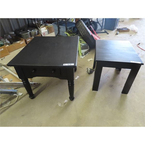 """2 End Table 1) w Drawers 21"""" 24"""" 27"""" 1) 18"""" x 22"""""""