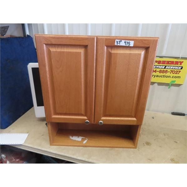 "Oak Vanity Cabinet 28"" 24"" 8"""