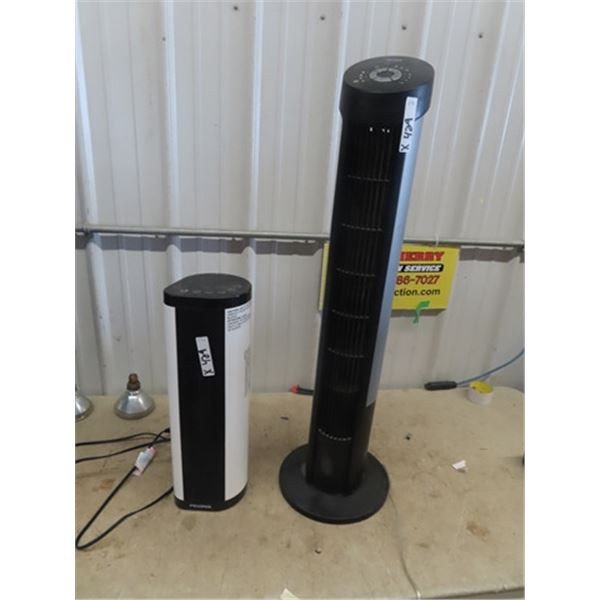 """2 Tower Fans 1) 22"""" Tall - New & 1) 40"""""""