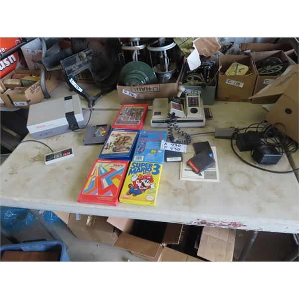 2 Home Video Games 1) Nintendo & 1) Intellivision II Plus Games