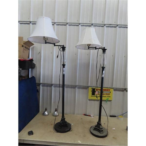 2 Modern Floor Lamps