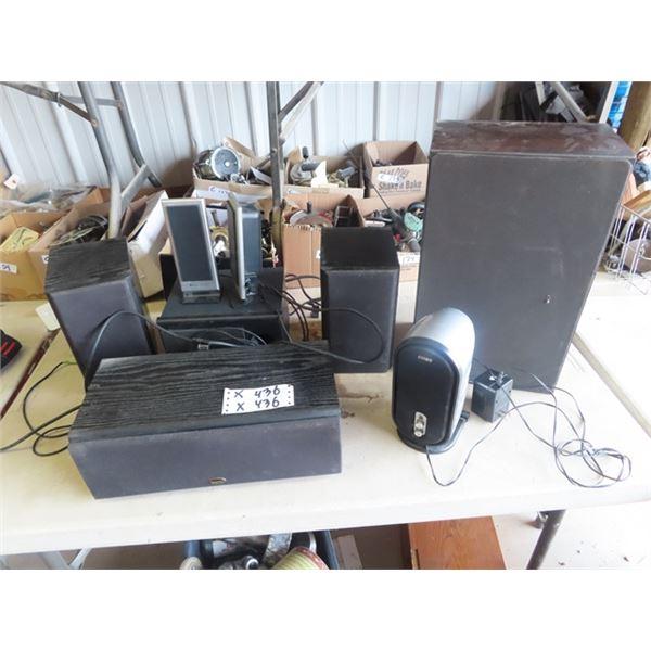 Speakers, Surround Sound, Coby, Altec Lansing Sound