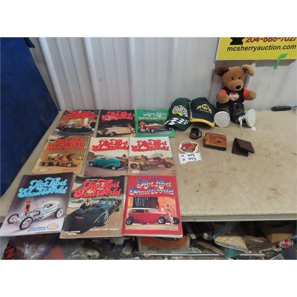 70's & 80's Hot Rod Magazines, Harley Davidson Dog, Goldwing Association Patch Plus More!