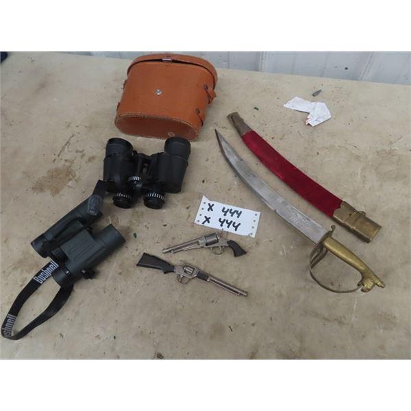 Focal Binoculars 8 x 40 , Bushnell Binoculars 8 x 27, Decorative Sword Plus