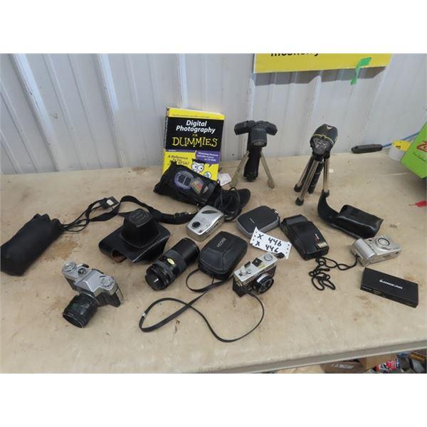 Camera - Zenith - E , Richoh 35ZF, Image Autozoom 1:4.5, F80-200M Plus Others & Lights