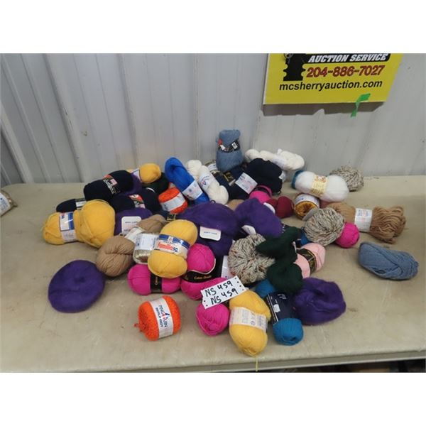 Approx 60 Bolts/Bundles of Yarn
