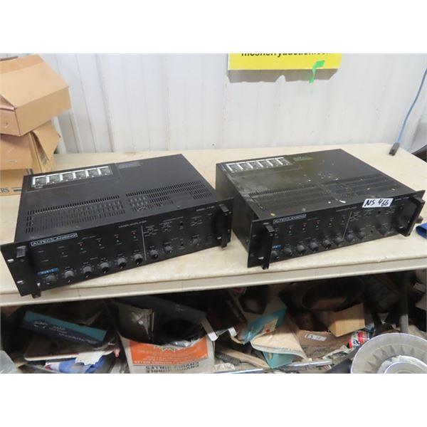 2 Altec. Lansing Mixer Amplifier Mdl 1715C