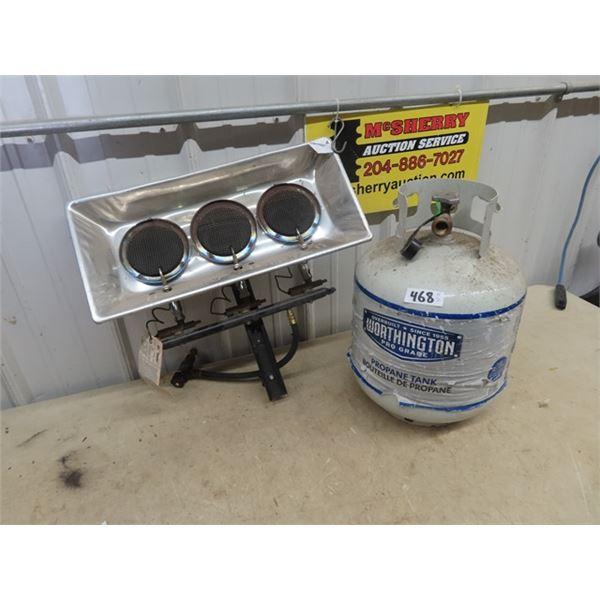 Propane Triple Heater & Tank 3/4 & Up Full