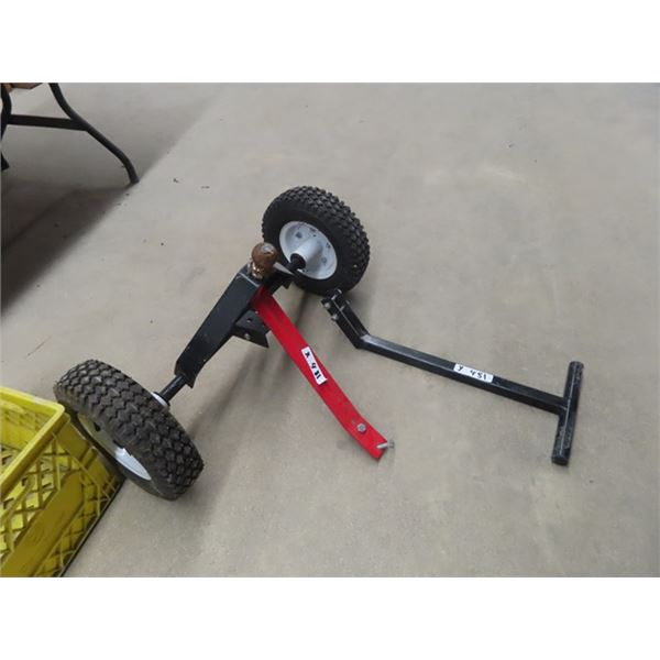 Ball Hitch Dolly w Pull Handle & Tow Handle