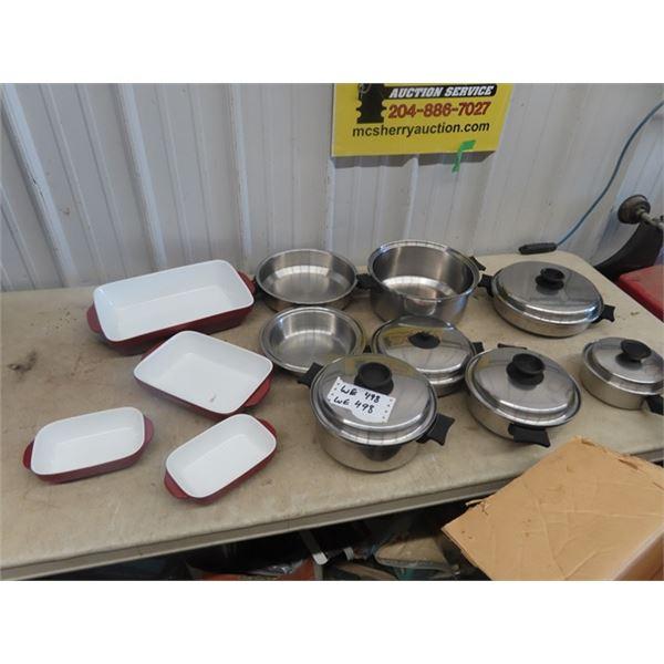 Set of 4 Logostina Casserole Dishes & Set of Pots & Pans