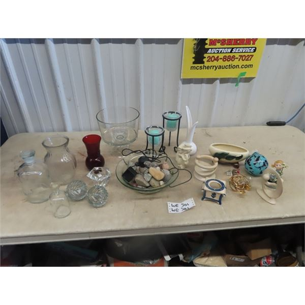 (WE) Vases, Candle Holders, Fountain , & Ornaments