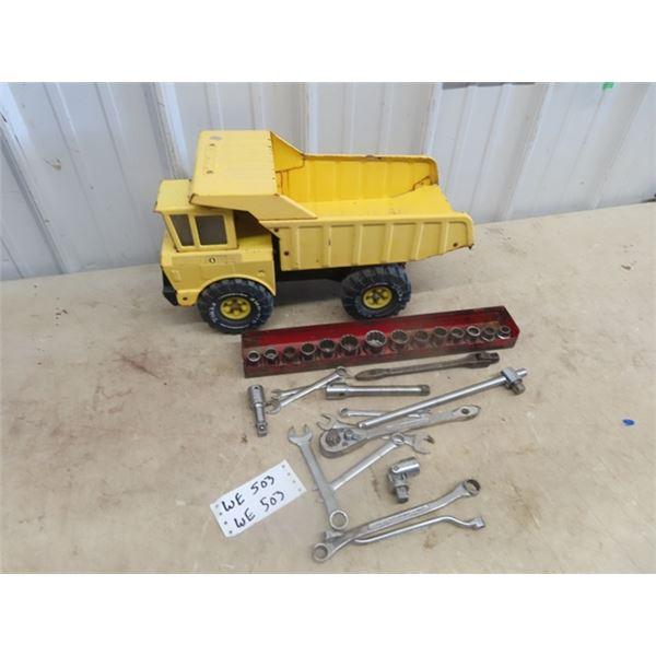 (WE) Tonka Truck,  Socket Set, &  Wrenches