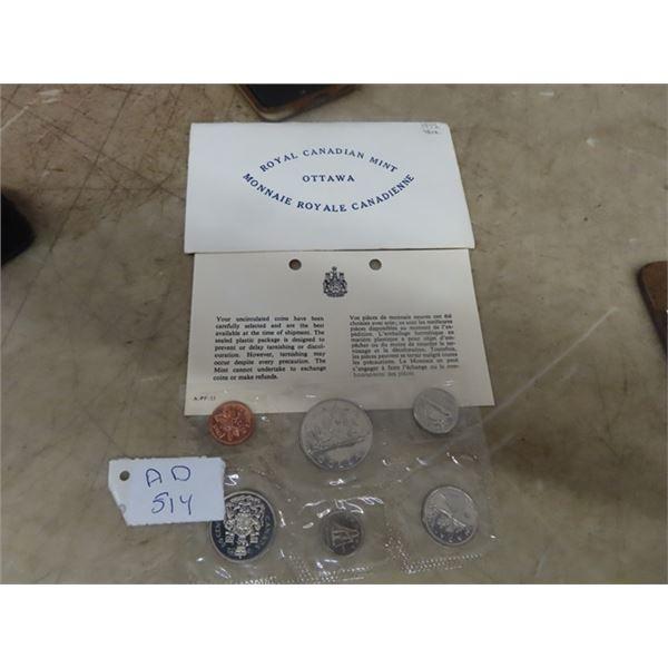 1972 Royal Cdn Mint Coin Set - Uncirculated