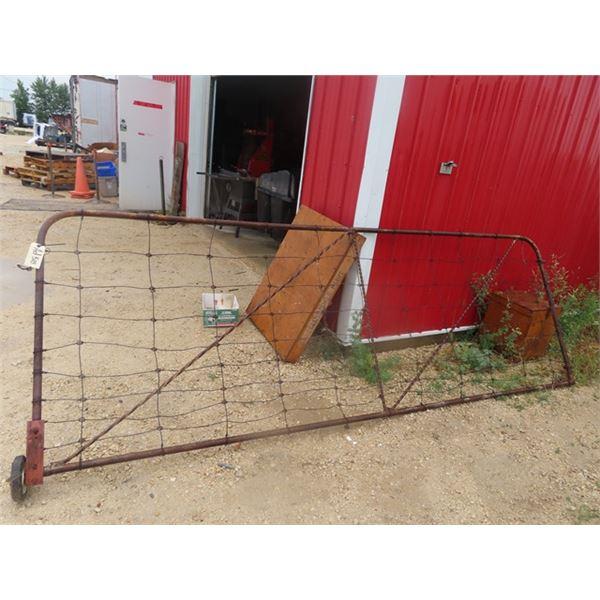 12' Metal Framed Wire Gate