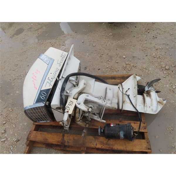McCulloch Flying Scott 60 HP Outboard Not Working From Sitting