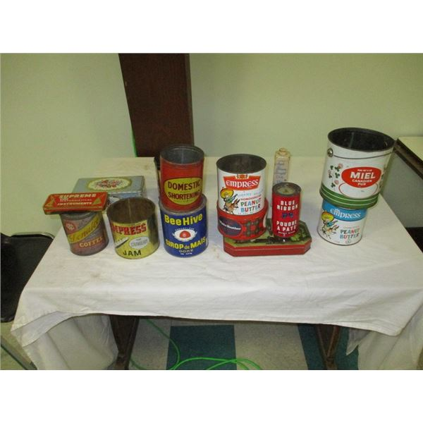 Lot of misc advertising tins