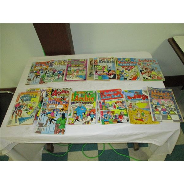 Lot of comics (mostly Archie)