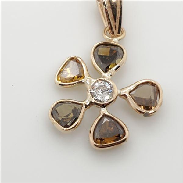 14K FANCY COLOR DIAMOND(1.10CT) PENDANT