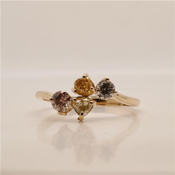 10K FANCY COLOR DIAMOND(0.66CT) RING SIZE 7