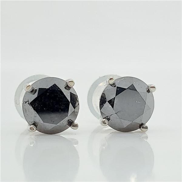 14K BLACK DIAMOND(1.8CT) EARRINGS