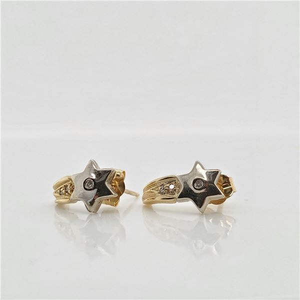 14K DIAMOND(0.06CT) EARRINGS