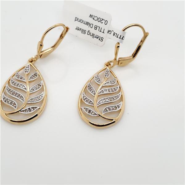 SILVER LB DIAMOND(0.2CT) EARRINGS